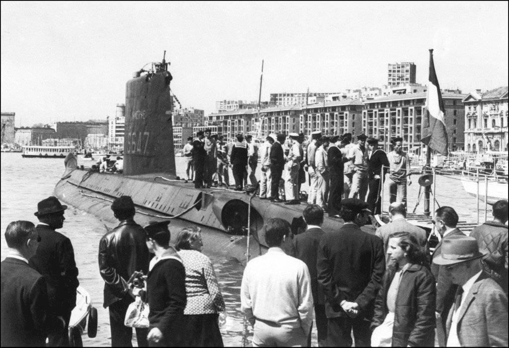 "Submarino francés ""La Minerve"", desaparecido en 1968"