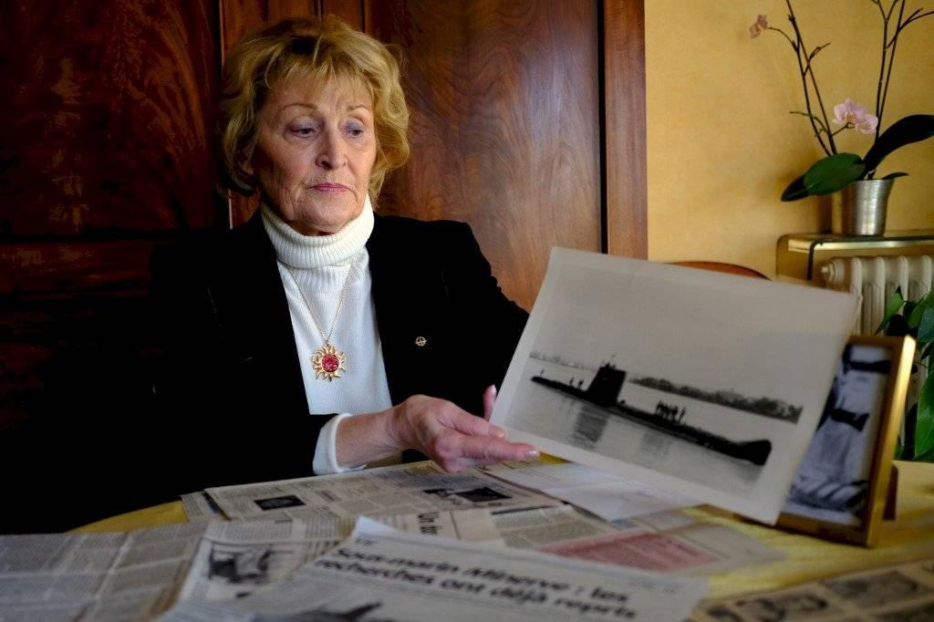 """Thérèse Scheirmann-Descamps, viuda de uno de los marinos de """"La Minerve"""""""