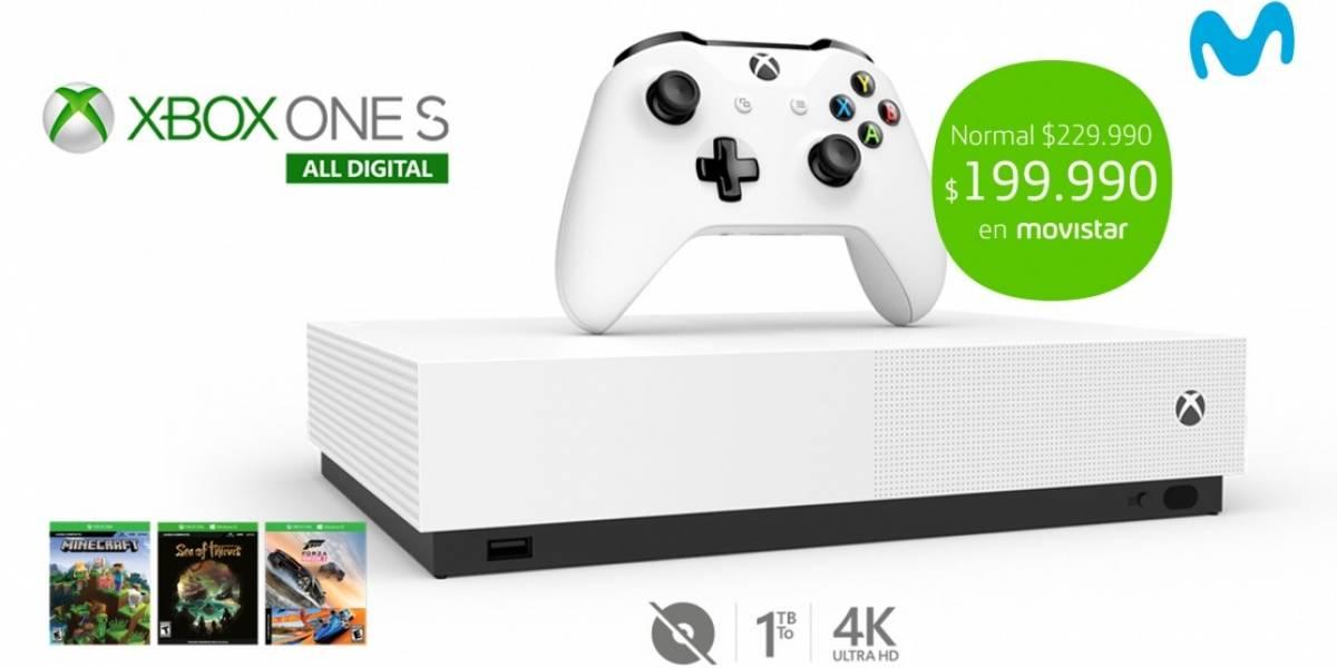 Ahora puedes comprar la Xbox One S All Digital a través de Movistar Chile
