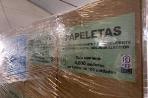 impresión de papeletas para la segunda vuelta electoral