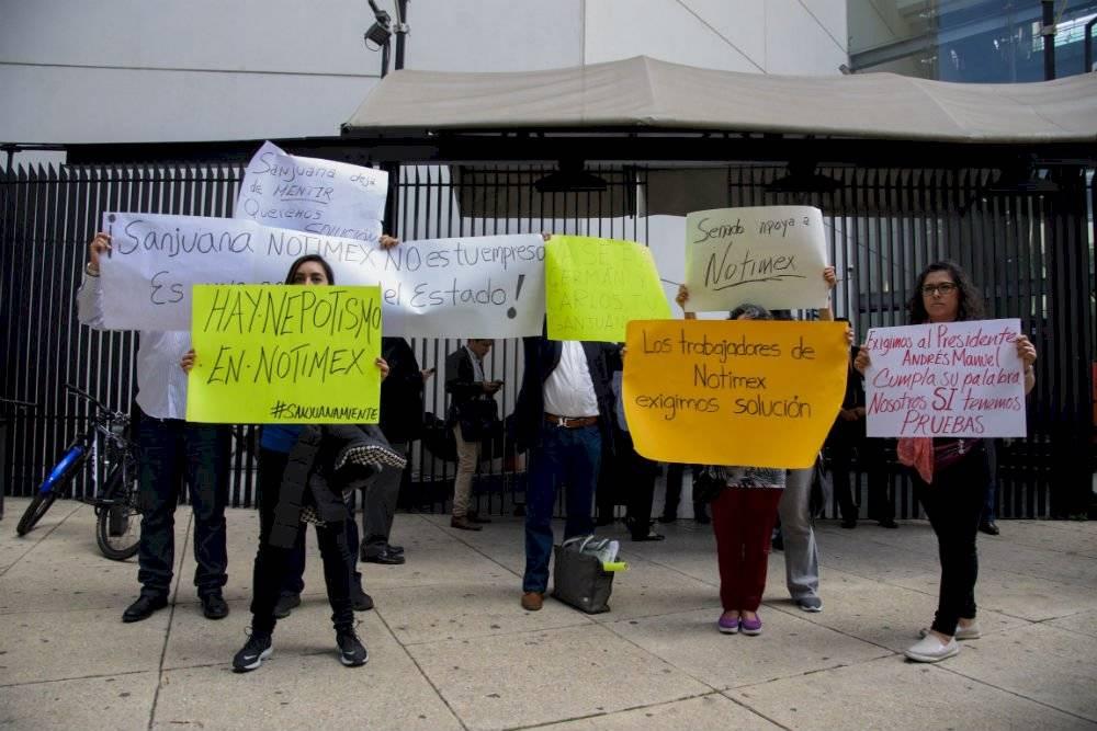 Protesta Notimex