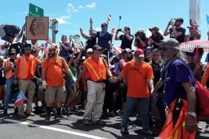 marcha contra el gobernador Ricardo Rosselló