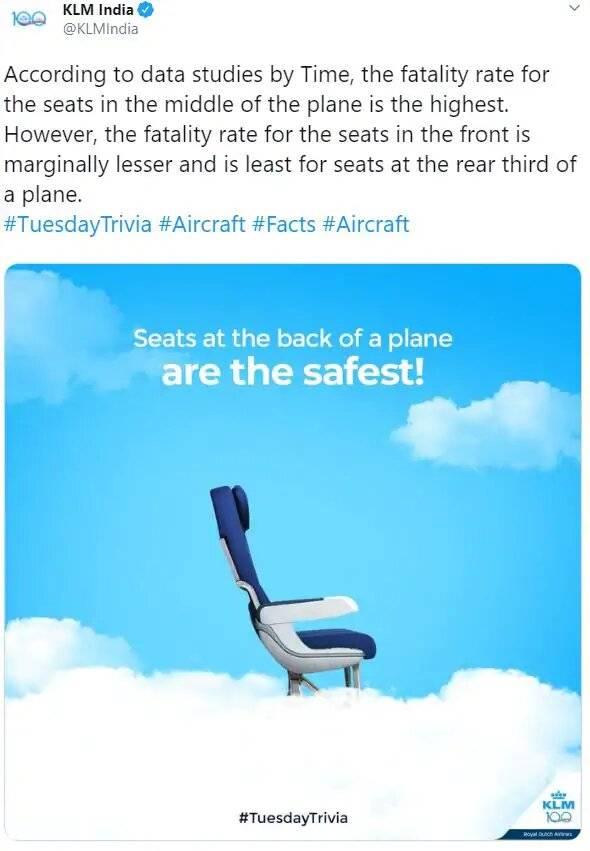 Una aerolínea publicó un polémico tweet sobre mortalidad en accidentes aéreos y tuvo que disculparse