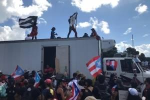marcha contra el gobernador Rosselló