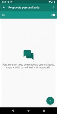 Crea respuestas automáticas al enviar un mensaje en WhatsApp