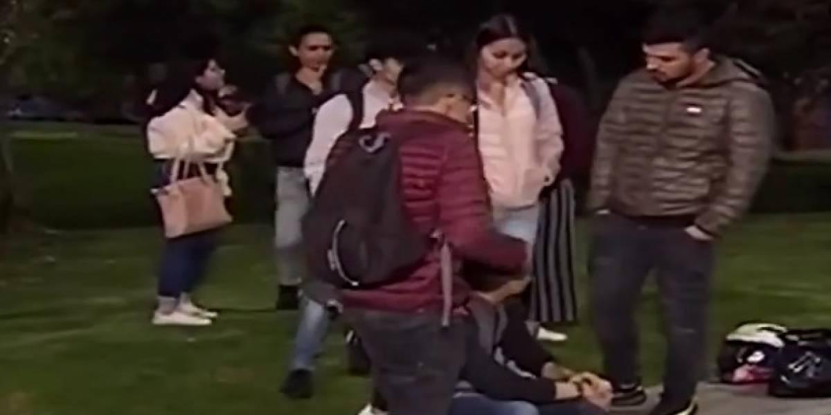 Universitarios fueron víctimas de atraco masivo en parque del norte de Bogotá