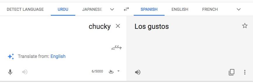 Chucky Google