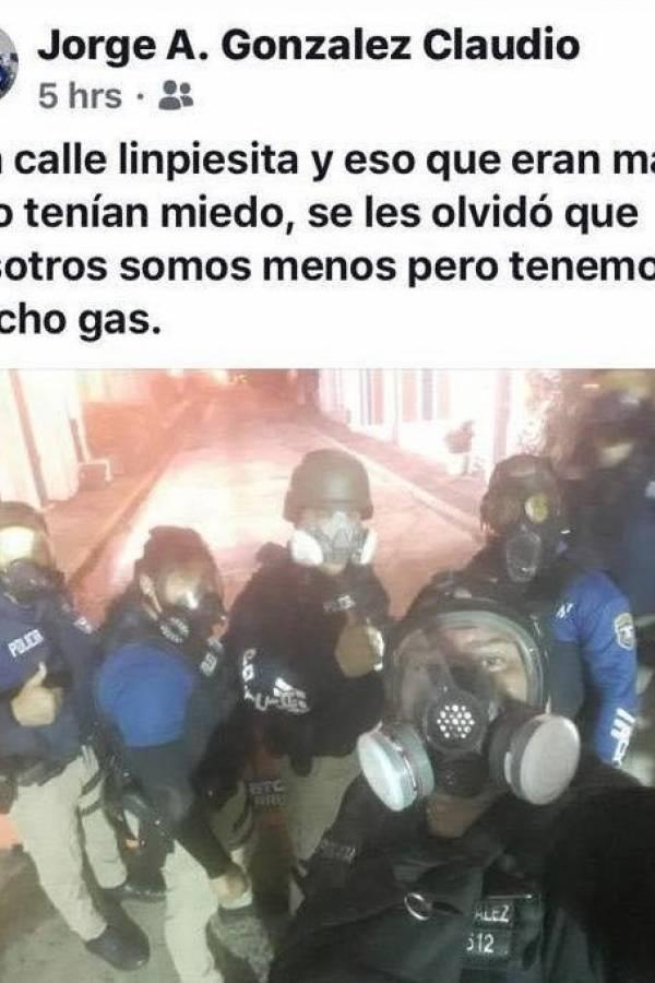 post de agente González Claudio