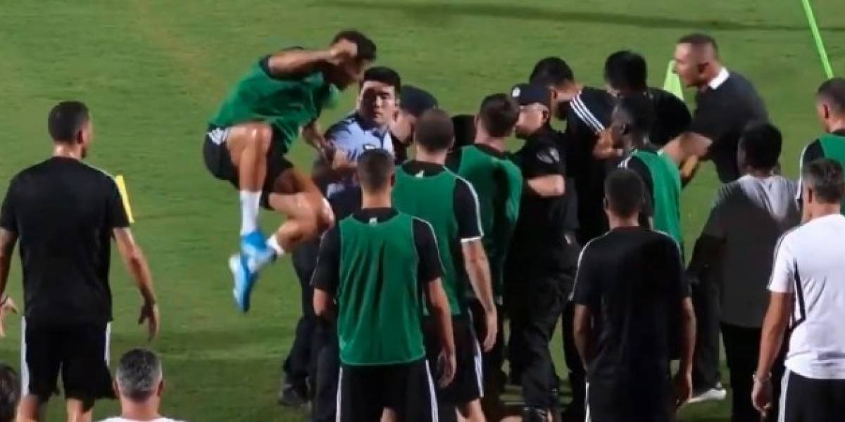 VIDEO: Cristiano sorprende a policía golpeándolo por la espalda