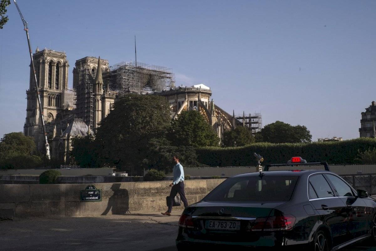 Trabajos de restauración de la Catedral de Notre Dame Foto: AP