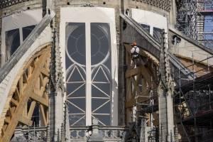 Trabajos de restauración de la Catedral de Notre Dame