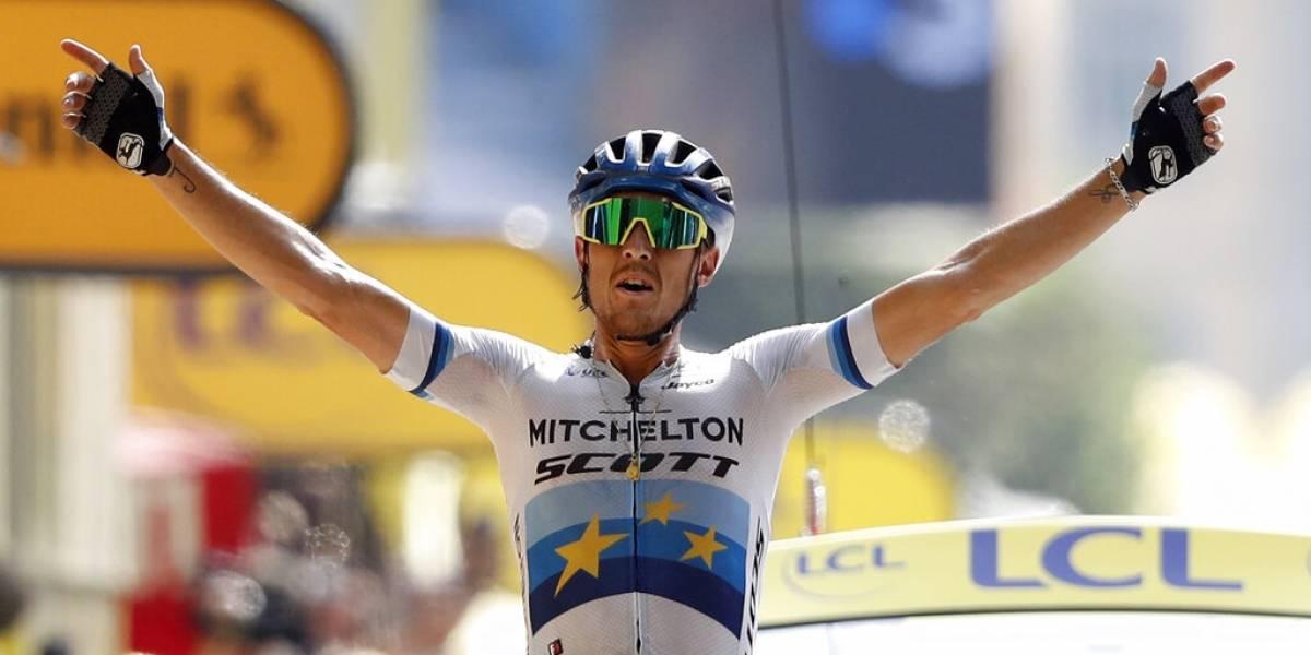 Tour de Francia: Trentin ganó en la entrada de los Alpes y Alaphilippe se mantuvo de líder