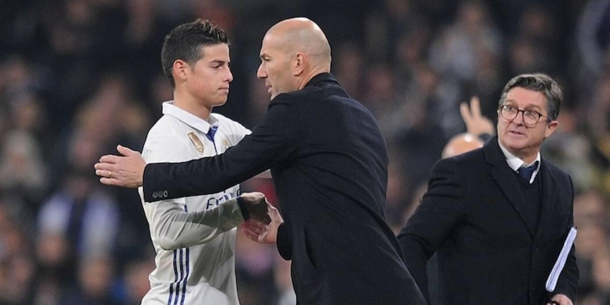 La antipática decisión de Zidane que para con el futuro de James Rodríguez