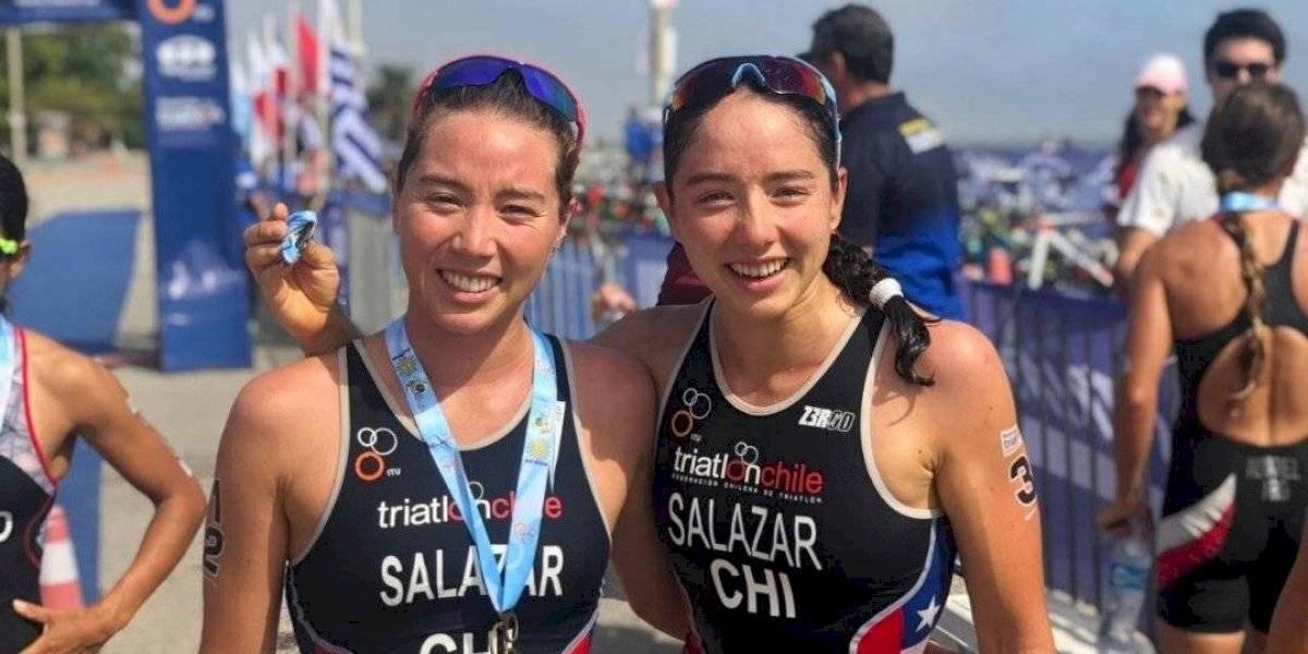 """Catalina y Macarena Salazar, triatletas del Team Chile: """"Son nuestros primeros Panamericanos, queremos aprender y disfrutar"""""""