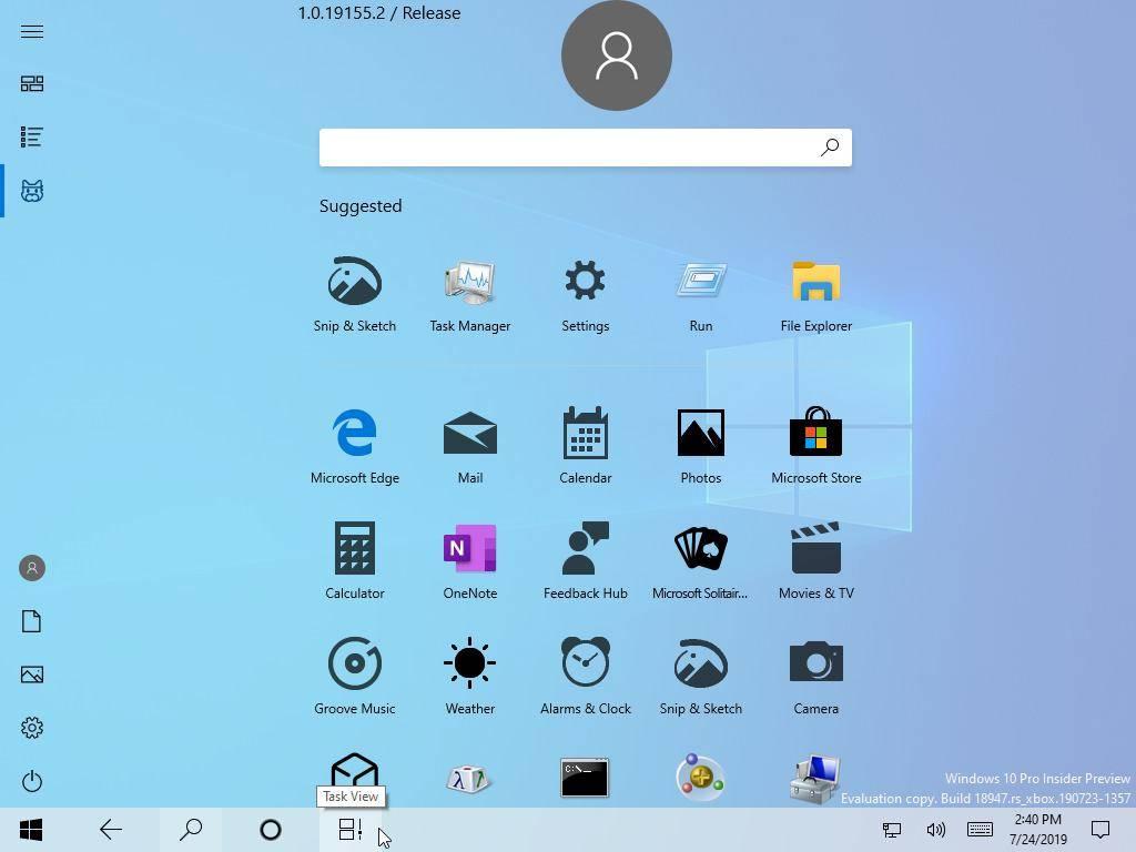 Microsoft lanzó por accidente una versión de Windows con un nuevo menú Inicio