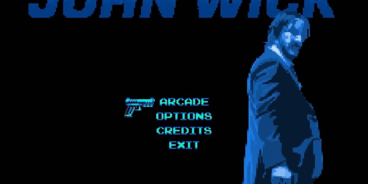 El juego en 8 bits de John Wick es como Contra en esteroides