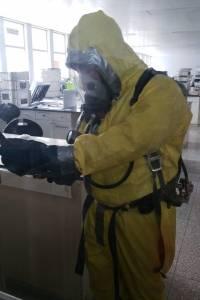 posible fuga de químico en ruta al Pacífico