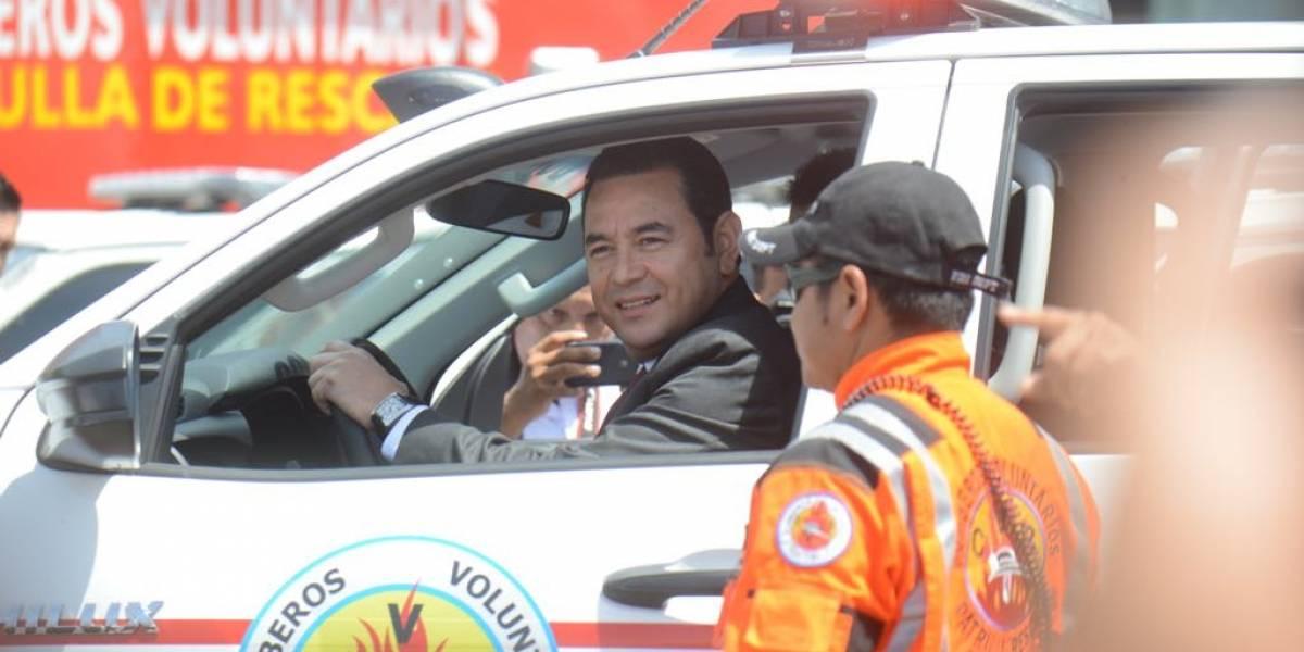 Presidente Morales resalta manejo transparente de fondos asignados a Bomberos Voluntarios