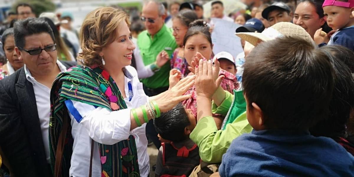 Estas son las promesas de campaña de Sandra Torres en Sololá y Chimaltenango