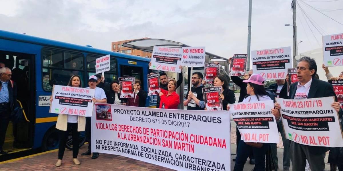 Barrios Unidos rechaza el proyecto de la Alameda Entreparques