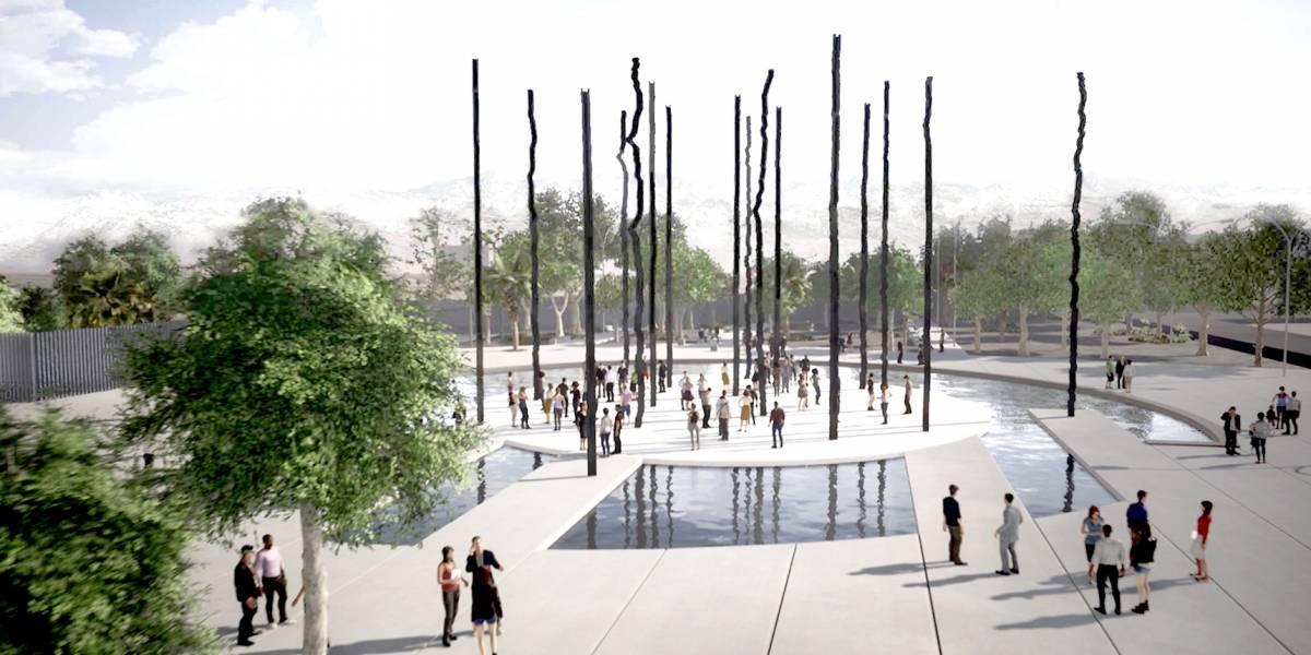 Tres esculturas gigantes cambiarán el rostro de Santiago antes de la Cumbre del Cambio Climático