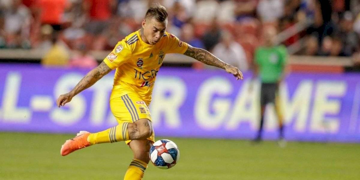 Eduardo Vargas anotó un golazo en la clasificación de Tigres en la League Cup de la Concacaf