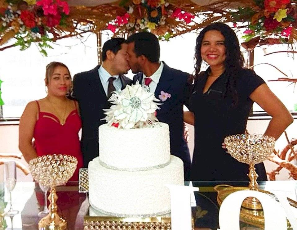 Giovanny Vareles y Borys Álvarez se casaron en Guayaquil Twitter Diane Rodríguez