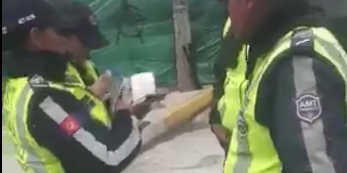 Filtran video que muestra agresión de una agente de la AMT contra un ciudadano