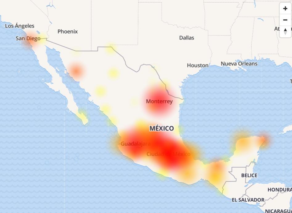 down telcel telmex internet