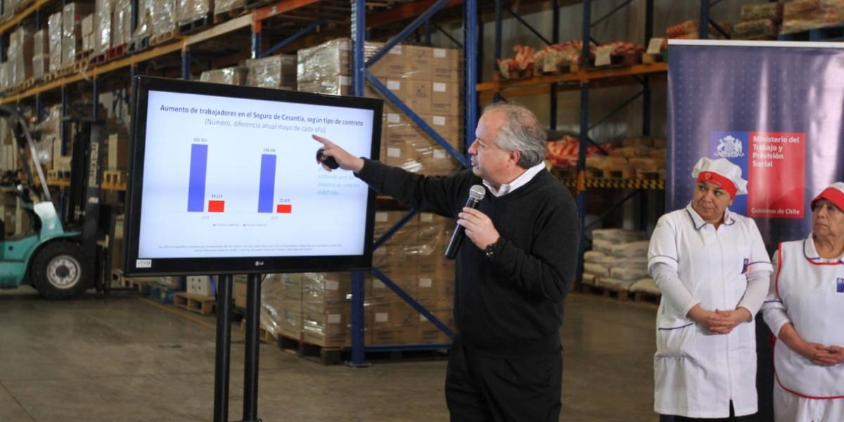 Mientras se dispara el desempleo en el Gran Santiago: Ministro del Trabajo destaca alza de empleo asalariado con otros datos