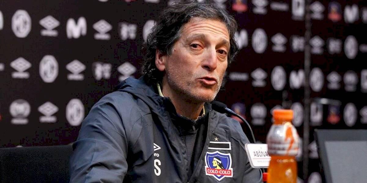 """Mario Salas golpea la mesa en Colo Colo: """"No voy a desclasificar nada de las conversaciones con mis jugadores"""""""