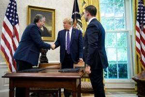 Donald Trump y Enrique Degenhart