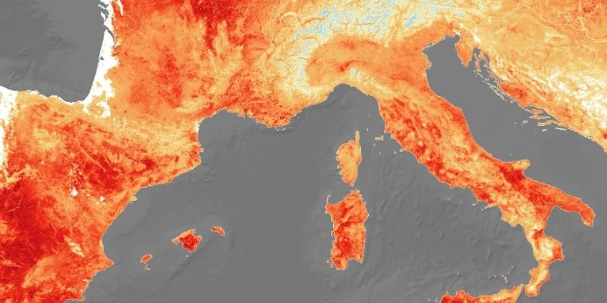 Demasiado caliente: así se ve desde el espacio la ola de calor extremo que asfixia a Europa