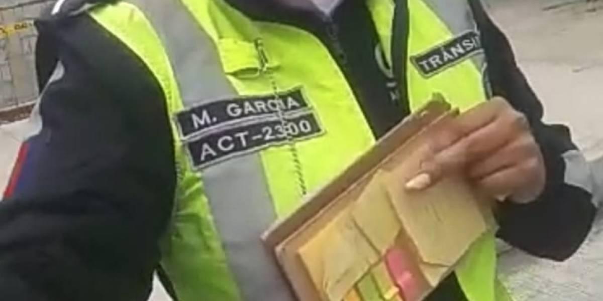 Agente de la AMT que agredió a ciudadano será separada de la institución