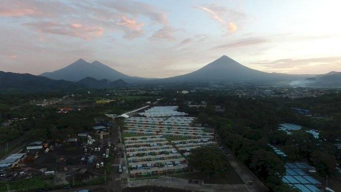 casas para afectados por erupción del volcán de Fuego