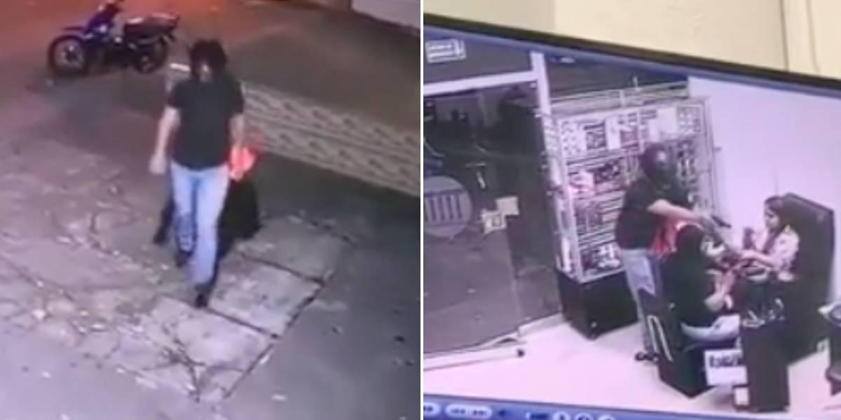 (VIDEO) Supuesto Domiciliario ingresó a una peluquería y cometió millonario robo