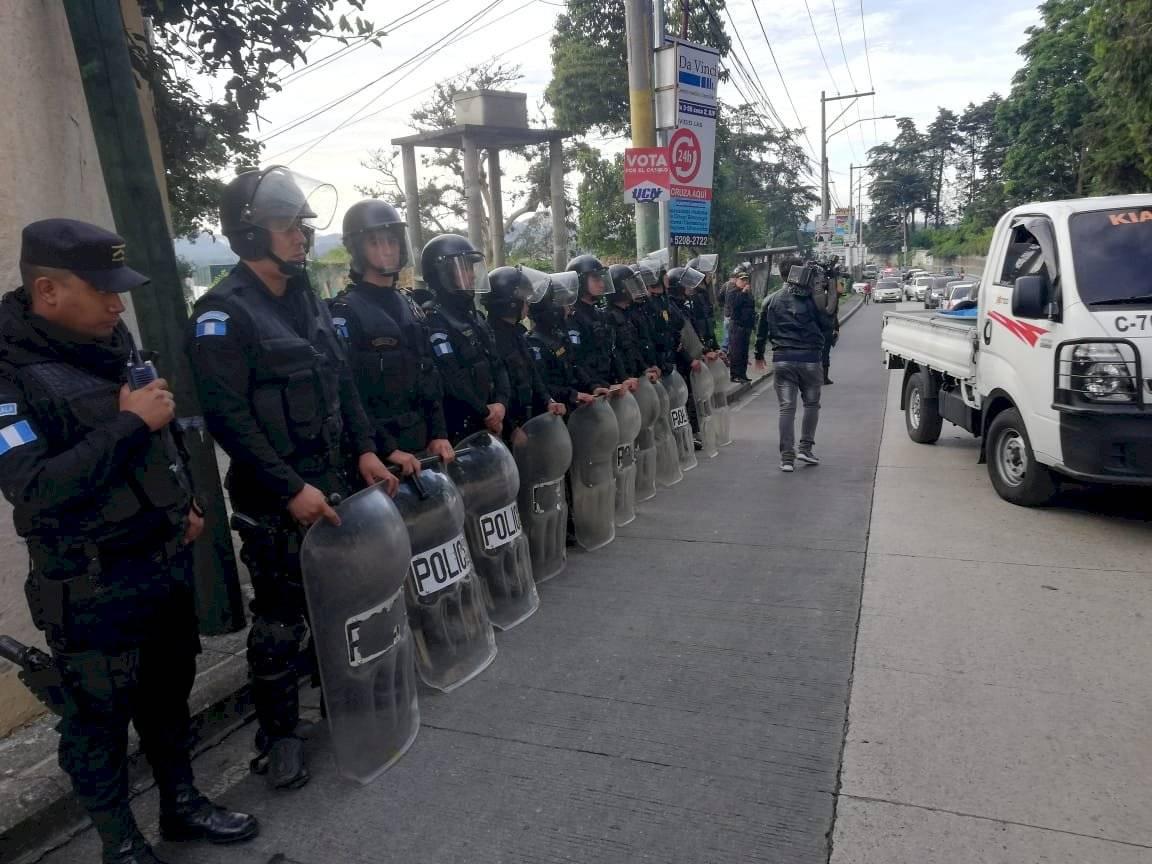 manifestación en San José Pinula