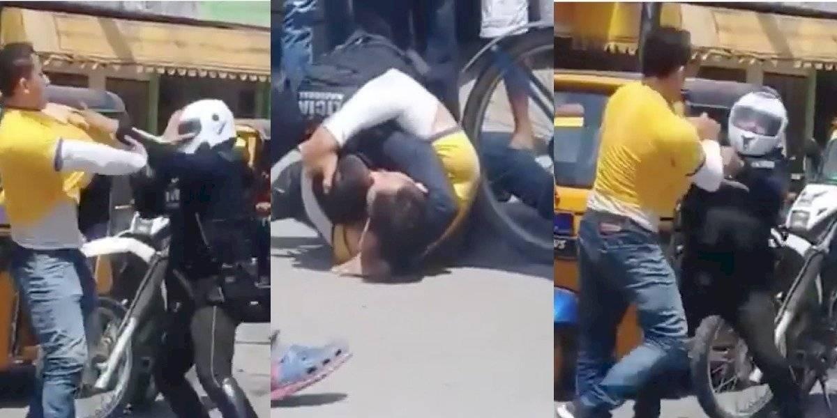 Hombre que golpeó a Policía fue detenido y recibió multa