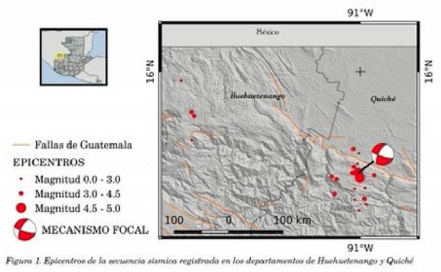 sismos en Quiché y Huehuetenango