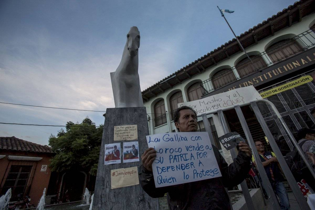 Manifestaciones en Guatemala Foto: AP