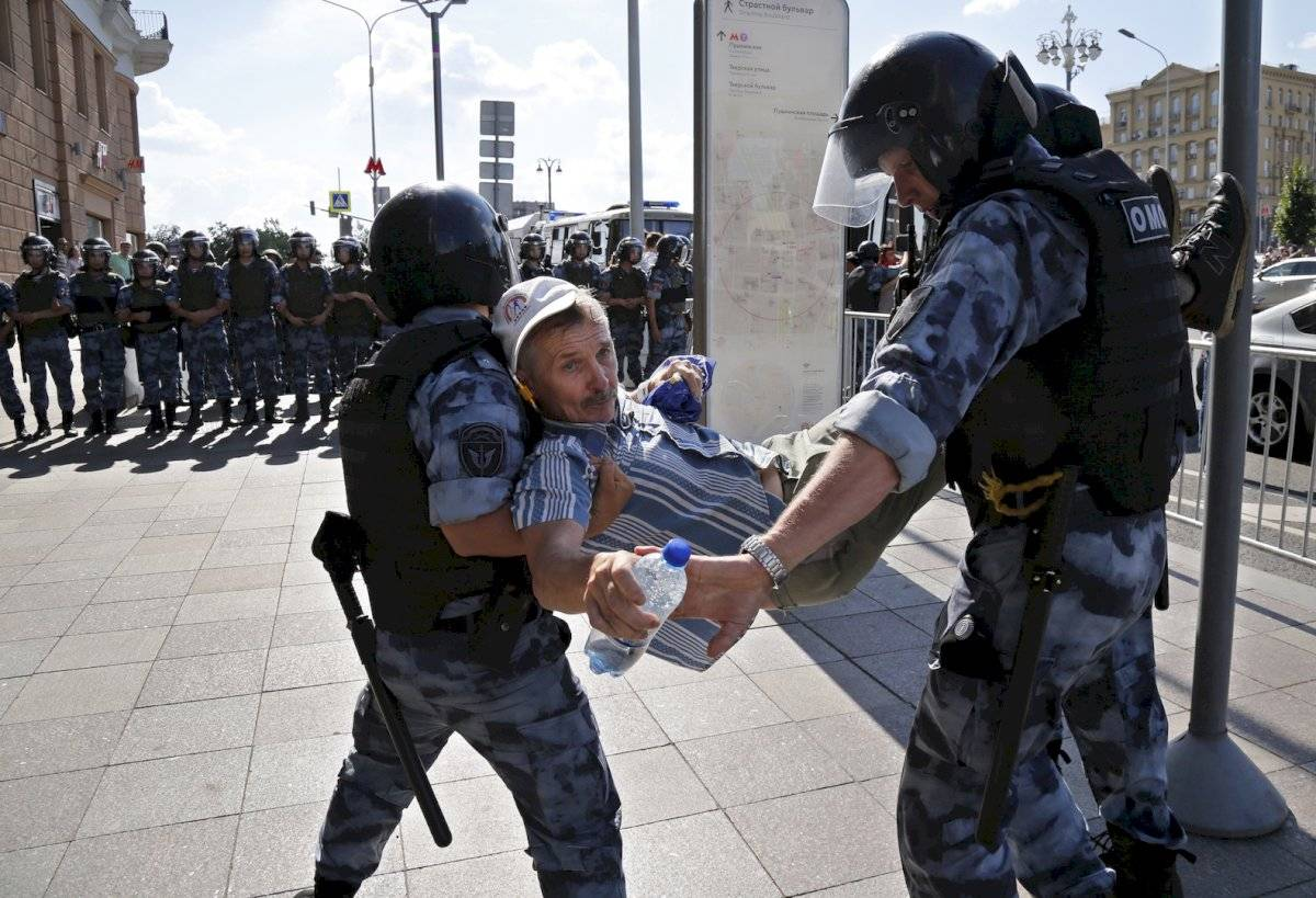 Manifestaciones en Moscú, Rusia Foto: AP