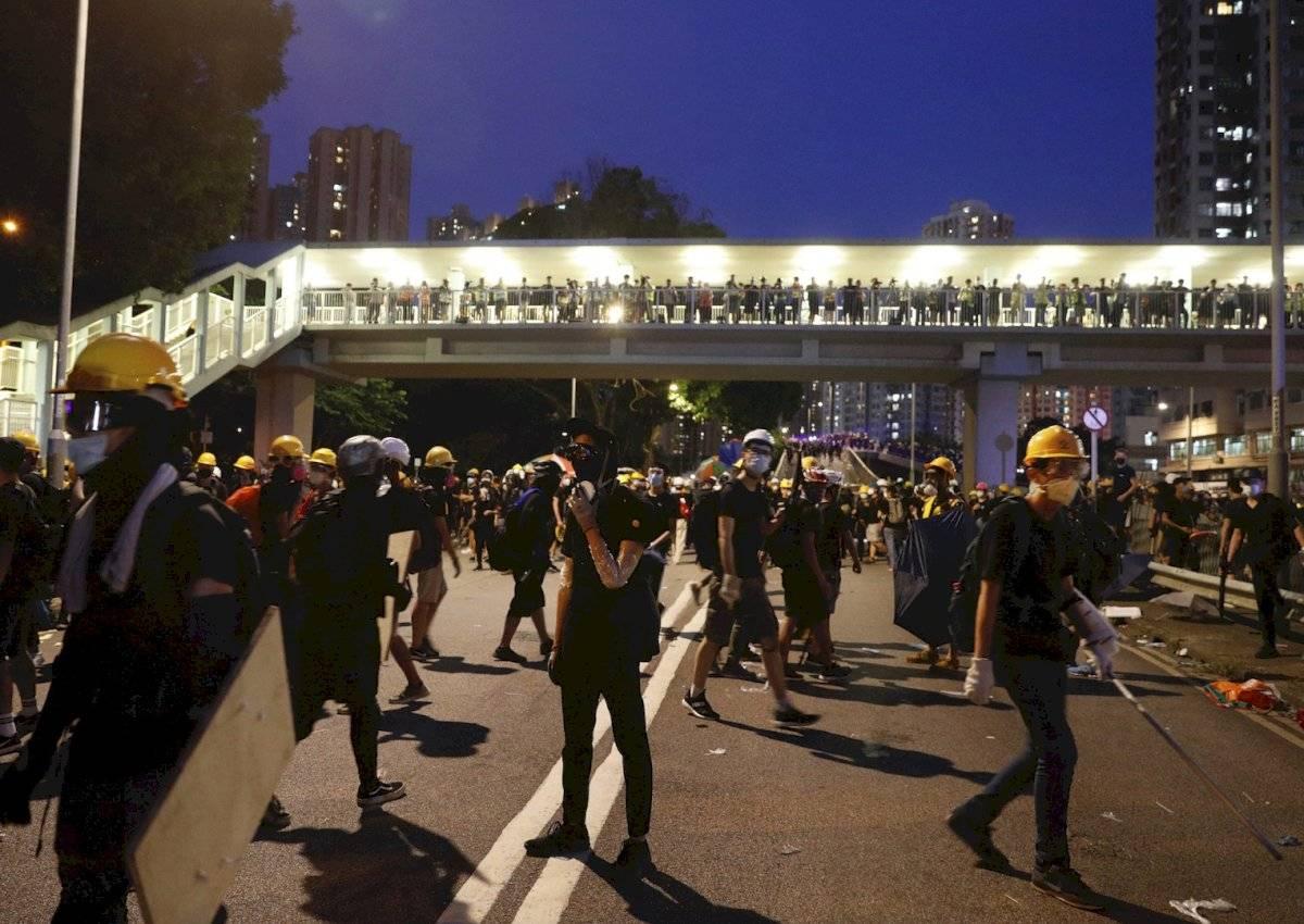 Enfrentamientos en Hong Kong Foto: AP