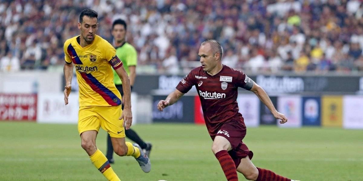 En partido de reencuentros, Barcelona derrotó al Vissel Kobe de Andrés Iniesta