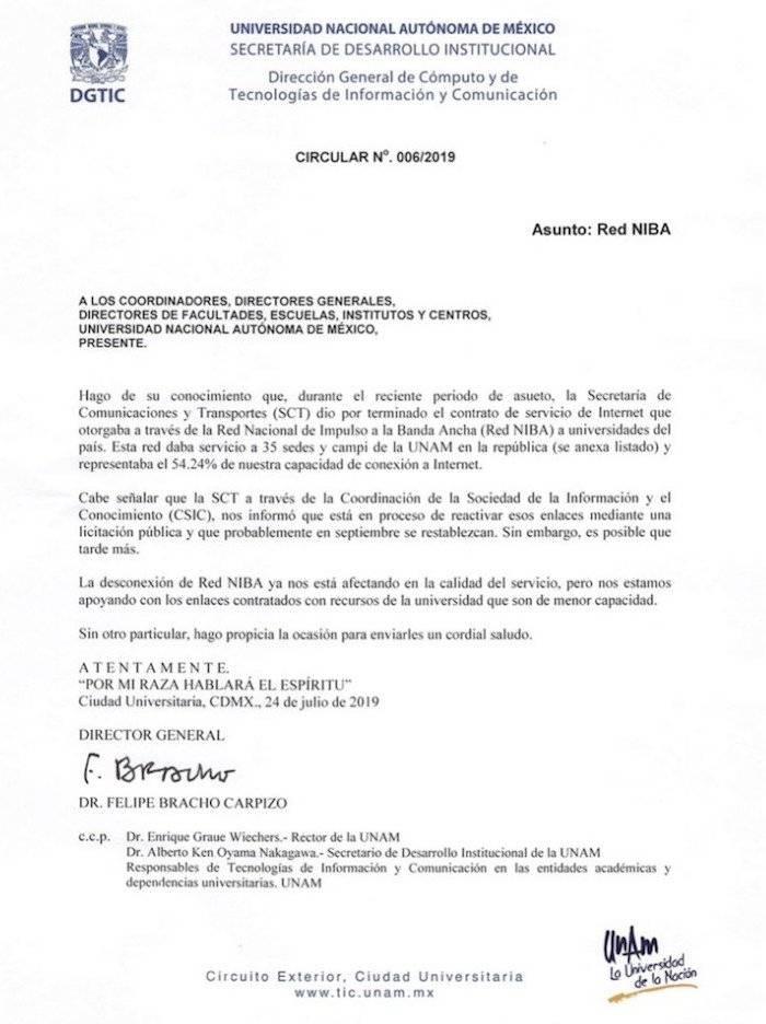 UNAM Internet