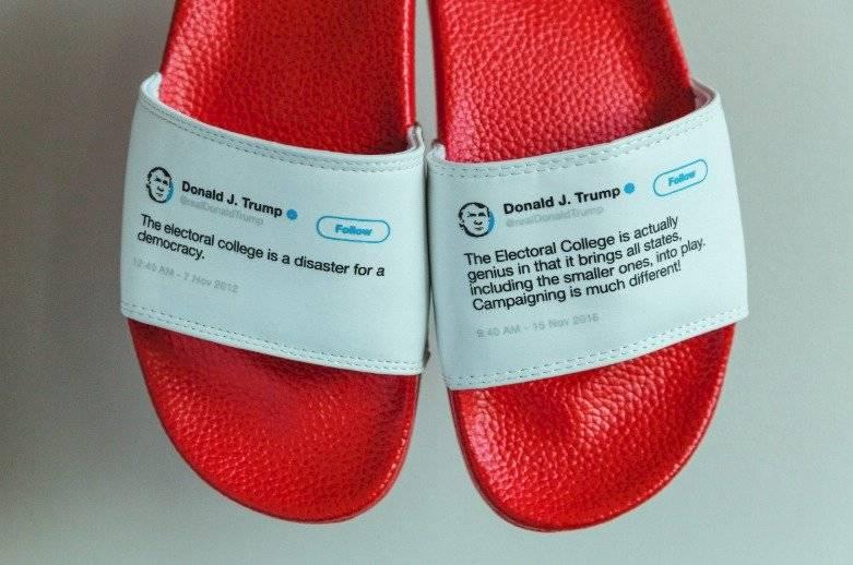 Donald Trump sandalias