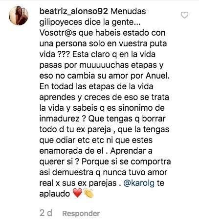 Capture Comentarios Karol G