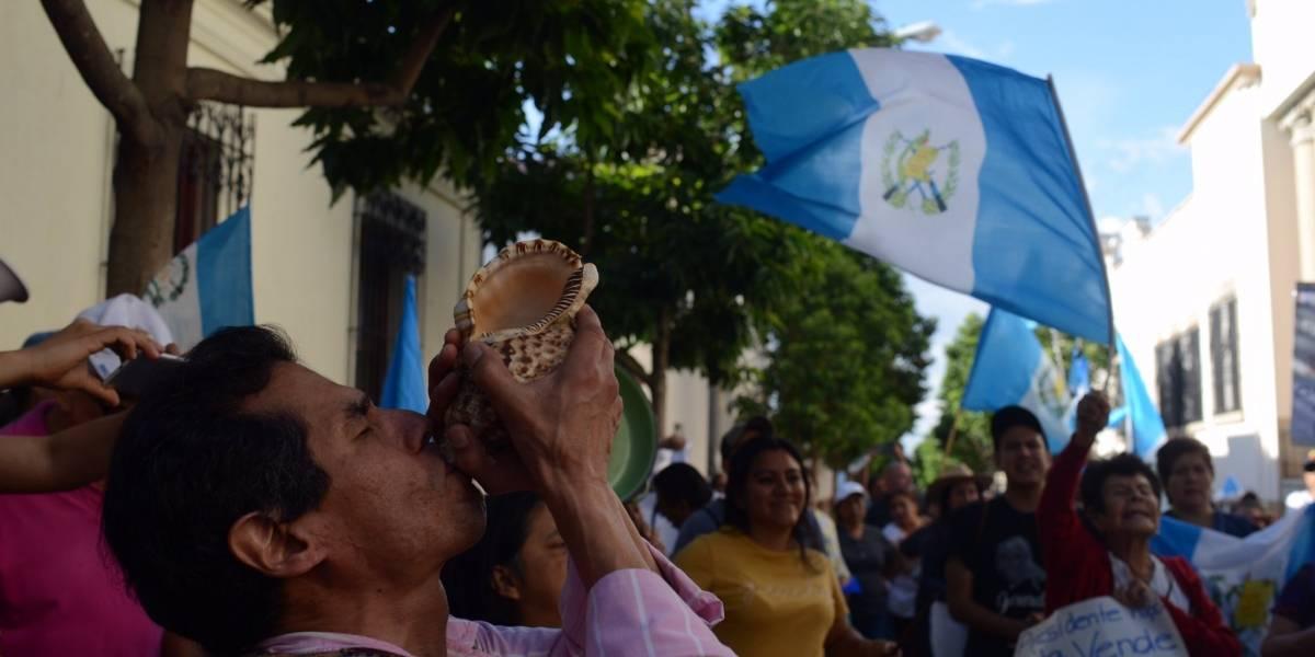 VIDEO. Guatemaltecos manifiestan contra Jimmy Morales y la firma del acuerdo migratorio con Estados Unidos
