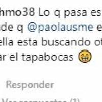 Captura de pantalla // Comentario Instagram @paolausme