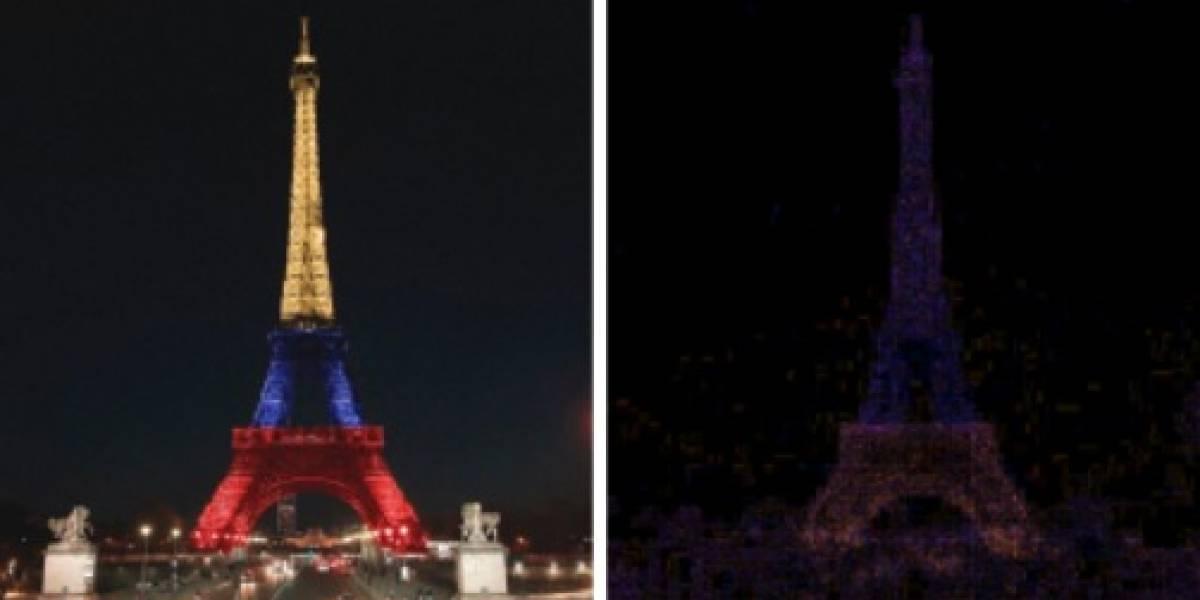 Esta es la foto original que usaron para el montaje de la Torre Eiffel