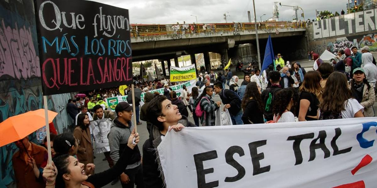 Colombianos claman contra asesinato de líderes sociales